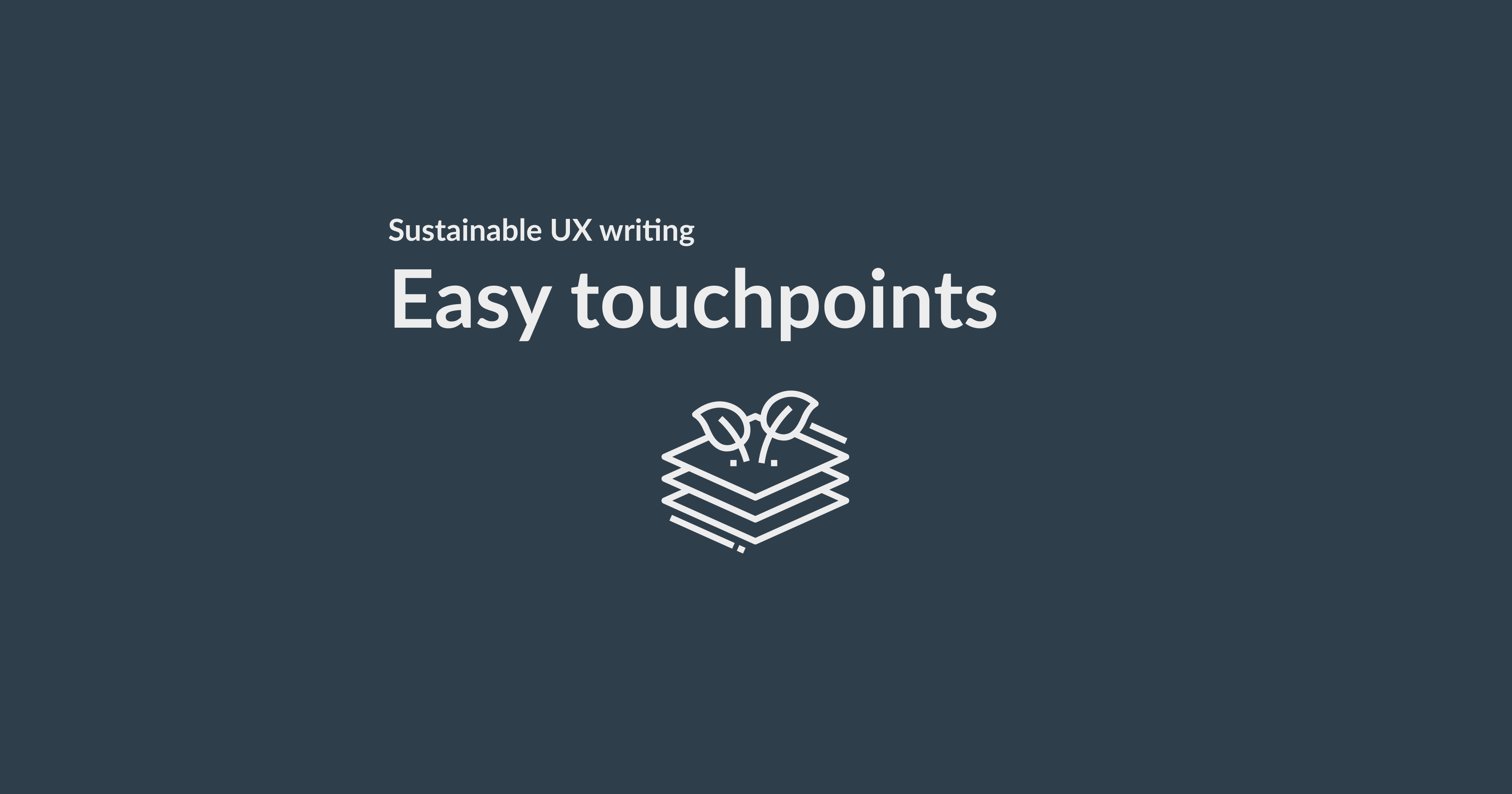 Sustainable UX writing: easy touchpoints for a better planet