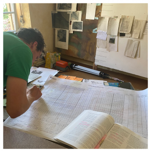 Person filling out a holistic planned grazing chart